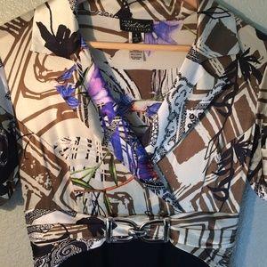 Cache Contour Silk Dress Size 6